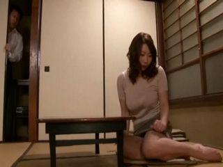 Busty Mom Kitabori Takumi Caught Playing With Her Self Gets Fucked