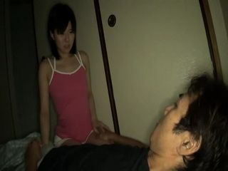 Sleeping Japanese Father Gets Awaken Late at Night By His Cock Hungry Teen Daughter