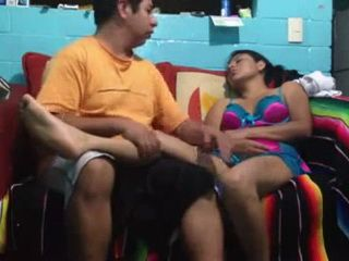 Sleeping Latinoamerican Wife Gets Fucked By Her Horny Hubby On Sofa