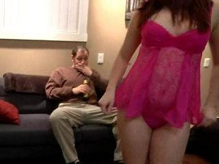 Slutty Teen Step Daughter Dressed Moms Lingerie To Seduce and Fuck Her Stepdaddy
