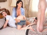 Mother India Summer Gives Sex Lessons To Her Daughter Veronica Radke and Her Teen Boyfriend