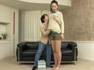 A Long Tall Girl Gets Fucked By Tiny Small Guy