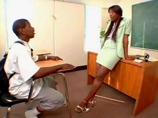 Ebony Cougar Milf Sex Teacher Vengeance Pimpin Fucks Young BBC Student In Classroom