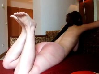 Husband Punishing Wife With Hard Belt Whipping Of Her Feet and Ass