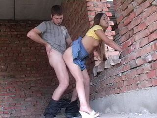 Teen Cutie Fucked By Her Friend In The Abandoned Building