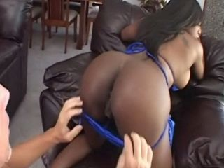 Big Fat Ass Ebony Girl Gets Hard Anal And Pussy Fucked By White Guy