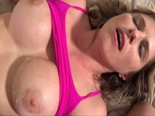 Busty Stepmom Ends Up Splashed With Stepsons Sperm On Her Tits
