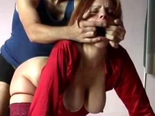 MILF In Red Got Roughly Fucked
