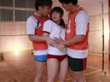 Volleyball Players Get In Threesome Sweet Asian Girl