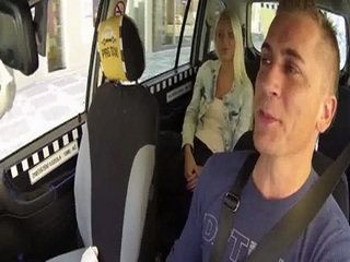Taxi Driver Made Driving Much More Interesting With Hot Sexy Blonde Customer