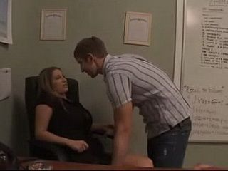 Brazen Student Want To Fuck His MILF Teacher Between Classes