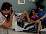Brunette Girl Must Fuck With Two Guys On Her Very First Casting