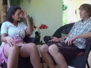 Busty Stepmom Carried Her Sex Knowlegde To Her Uneducated Stepson