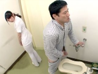 Young Nurse In Hospital Busted By Head Nurse While Helping A Patient To Masturbate In A Toilet