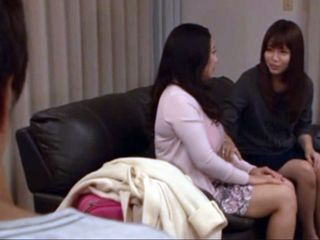 While Husbands Licking His Wife Pussy He Imagine His Cock Between Her Busty Sisters Tits - Mako Oda