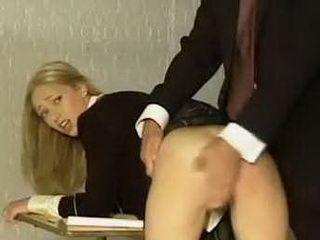 Adel Naughty Schoolgirl Spanked