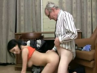 Naive Babysitter Believed Old Geek That He Will Give Her More Money For Less Work If She Fuck Him