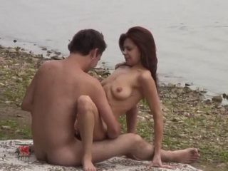 Couple Caught Fucking By The River