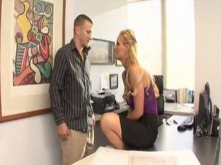 Sexy Blonde Boss Made An Offer That He Simply Couldnt Refuse