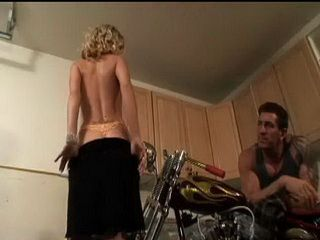 Strong Biker Pounded Hard This Cock Hungry Blonde