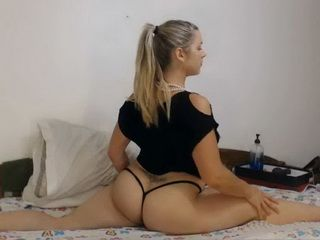 Flexible Busty Blonde Both Counts Filled