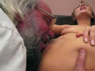 Hoary Grandpa Enjoying In Fresh Young Pussy
