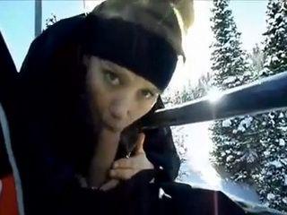 Amateur Blowjob On Ski Slopes On Christmas Holiday
