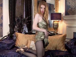 Classy Nylon Ginger Slowly Teasing