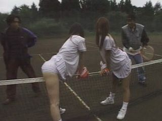 2 Japanese Girls Harassed On Tennis Court By Local Punks