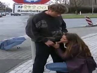 This Whore Has No Problem To Give Blowjob To Any Guy In Public