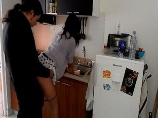 Sexy Kaira Gets Doggy In The Kitchen While Washing Dishes