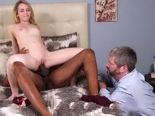 Carring Daddy Wants To Witness To His Daughter First Interracial Fucking