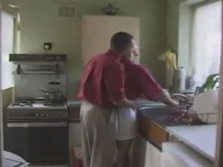 English Blonde Milf Gets Surprised In The Kitchen By Husbands Best Friend
