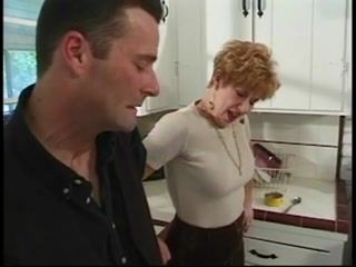 Mother Turnes A Serious Conversation Into Sex In The Kitchen With Her Son In Law