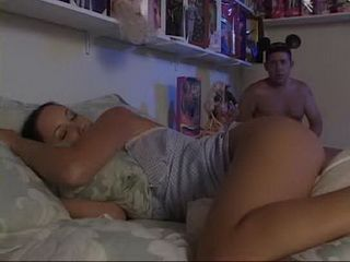 Daddy Jerks Off His Erected Cock While His Innocent Stepdaughter Was Sleeping