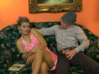 Sly Grandpa Seduce Grandsons Immoral Wife Into Fucking