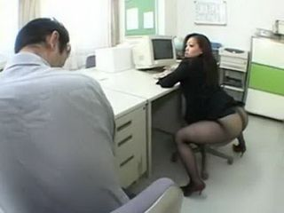 Shameless Japanese Milf Loves To Show Her Giant Ass To Her Colleague Uncensored