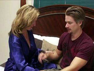 Busty Stepmom Teaching Her Shy Stepson How To Behave With A Woman