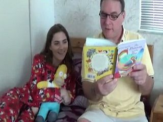 Suddenly Daddy Get So Horny While Reading A Bedtime Story To His Stepdaughter