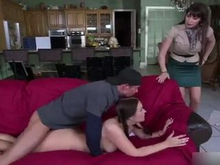 Cougar Milf Had Only One Thing On Her Mind After Caught Her Stepdaughter Barebacking On Sofa