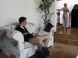 Stepson Is Busted By His Sneaky Mom While He Was Jerking His Erected Cock