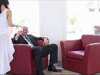 Sexy Secretary Fucks Her Boss For Money