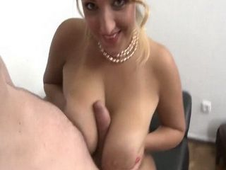 Busty Blonde With Pearls Gets Hard Fucked And Fill Her Pussy With Sperm By Her Boyfriend
