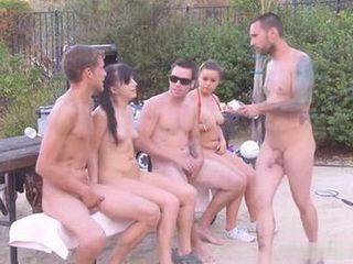 BBQ With Two Sluts Next Door Turned Into Orgy