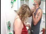Older Stepmom Gives Hot Pleasure To Her Stepson While He Was Shaving