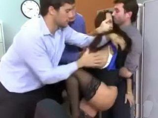 Nasty Boys From Office Desperately Want A Painful Revenge For Busty Milf Colleague