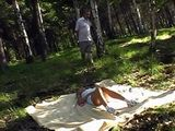 Sleeping Alone In The Woods Attract Attention Of Old Maniac