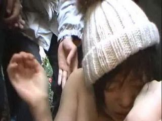 Undefended Asian Teen Was Humiliated By Bunch Of Maniac In The Public Market