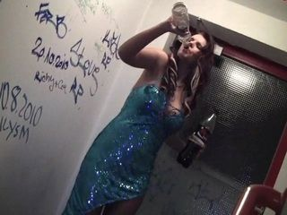 Totally Drunk Partygirl Sucks Off Strangers Cock While His Recording On New Years Eve