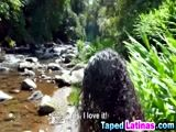 Super sexy Latina whore fucked on the river